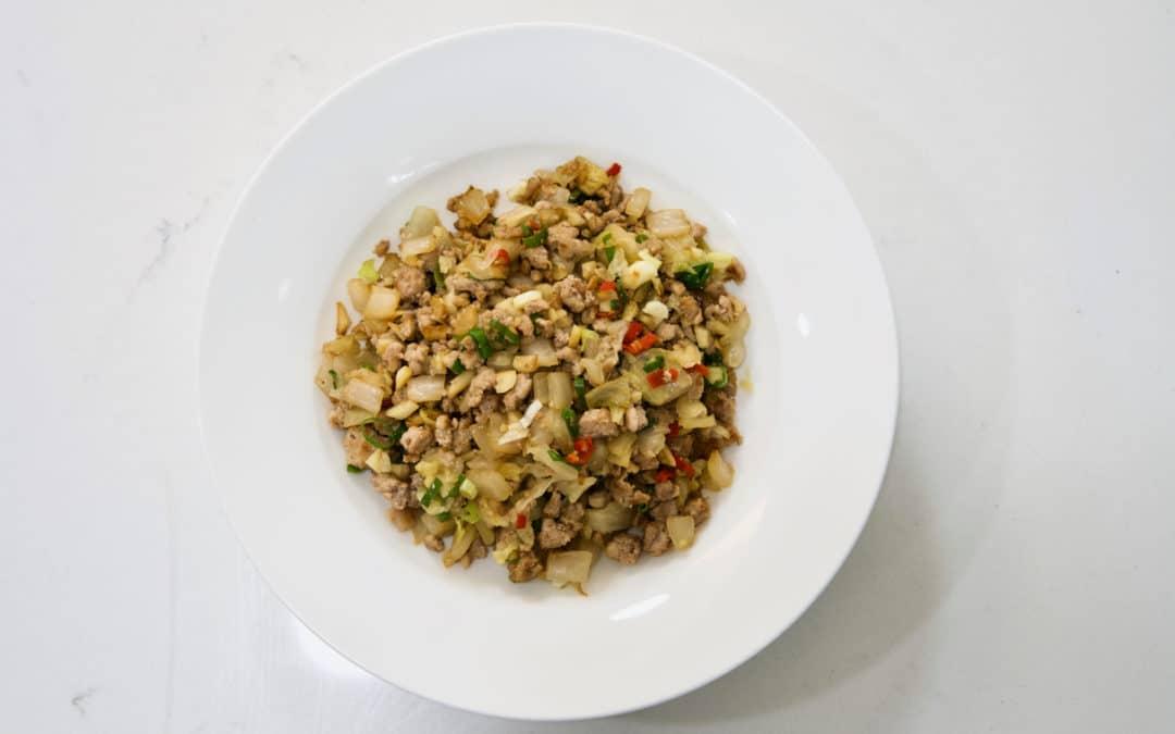 超級下飯的「酸白菜炒肉末」